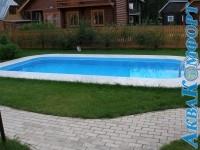 Пластиковый бассейн 7,5х3,0 на улице