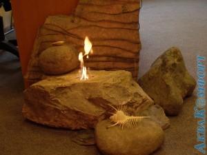 Биокамин, каменная композиция