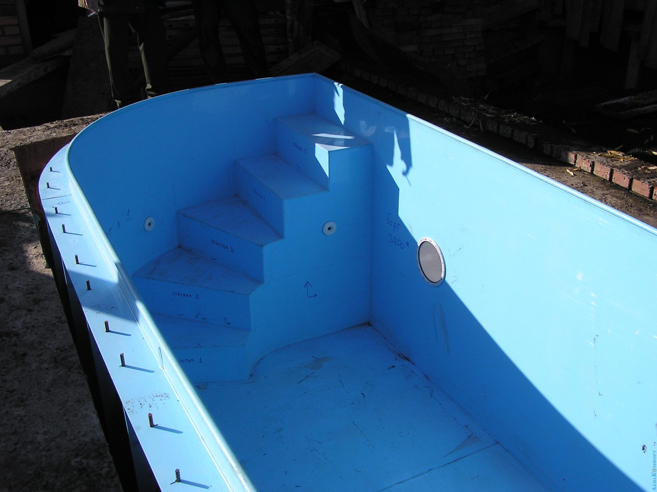 Как сделать лестницу для бассейна из пластиковых труб